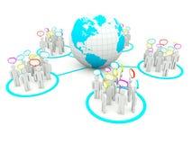 Concept social de réseau Images libres de droits