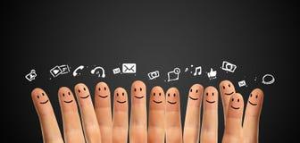 Concept social de réseau photos libres de droits