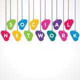 Concept social de réseau illustration stock
