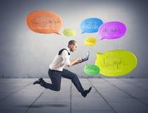 Concept social de réseau Photos stock