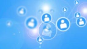 Concept social de réseau. illustration de vecteur