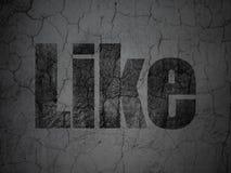 Concept social de réseau : Comme sur le fond grunge de mur Photo stock