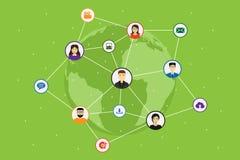 Concept social de réseau de media illustration de vecteur