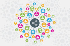 Concept social de réseau et de communication Photo libre de droits