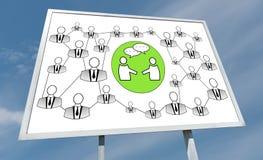 Concept social de réseau sur un panneau d'affichage Photo libre de droits