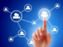 Concept social de réseau. Image libre de droits