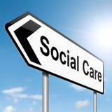 Concept social de soin. Images libres de droits