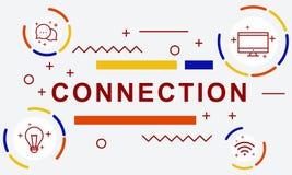 Concept social en ligne de réseau de mise en réseau de connexion Image libre de droits
