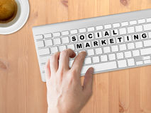 Concept of Social marketing. Stock Image