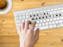 Concept of Social marketing. Royalty Free Stock Photography