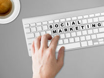 Concept of Social marketing. Stock Images