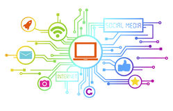 Concept of Social Media as an Information Medium. Royalty Free Stock Images