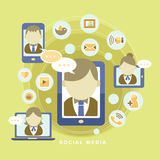 Concept of social media Stock Images
