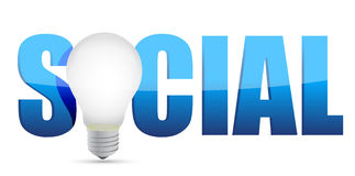 Concept social media and lamp Royalty Free Stock Photography