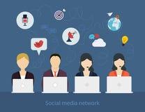 Concept of social media network Stock Photos