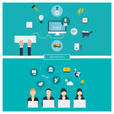 Concept of social media network, project Stock Photo