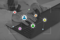 Concept of social media and teamwork Royalty Free Stock Image