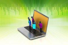 Concept of  social net working Stock Photos