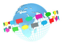 Concept of social network. Forum or chat bubble speech Royalty Free Stock Photos