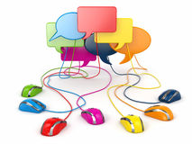 Concept of social network. Forum or chat bubble speech. Royalty Free Stock Image