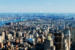 The concept of social networking with city. Concept of social networking with city Stock Images