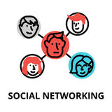 Concept of social networking, vector illustration Royalty Free Stock Photos