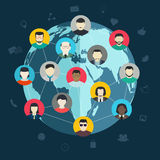 Concept of social networking Stock Images