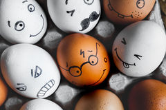 Concept social networks communication and emotions - eggs Stock Photography