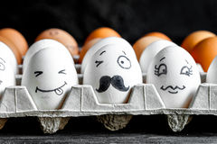 Concept social networks communication and emotions - eggs wink Stock Image