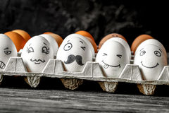 Concept social networks communication and emotions - eggs wink Stock Images