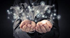 Concept social sans fil de connexion Images stock