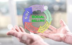 Concept of social selling stock photos