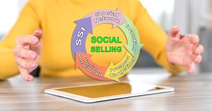 Concept of social selling royalty free stock photos