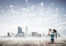 Concept of social wireless connection and internet use for commu Stock Photo