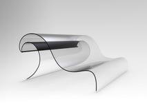 Transparent Wave Sofa Royalty Free Stock Photo