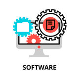 Concept of software icon, for graphic and web design. Modern flat editable line design vector illustration, concept of software icon, for graphic and web design Stock Photos