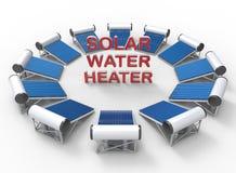 Concept solaire de chauffe-eau illustration stock