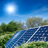 Concept of solar panel Stock Photos