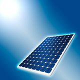 Concept of Solar Panel. And sun Stock Image
