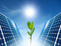 Concept of solar panel. Green energy. Concept of solar panel for green renewable energy stock images
