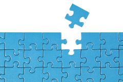 Concept solution for a problem. Symbolic picture showing the solution for a problem with a puzzle Stock Photography