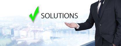 Concept of solutions royalty free stock photos