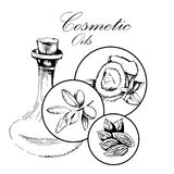 Concept of spa and cosmetology. Cosmetic oils Royalty Free Stock Image