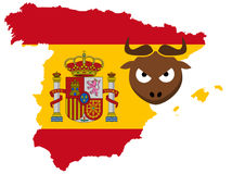 Concept of Spain Royalty Free Stock Photography