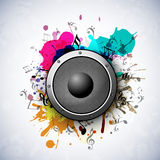 Concept of speaker on grungy art. Royalty Free Stock Photos