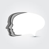 Concept speech bubble Royalty Free Stock Images