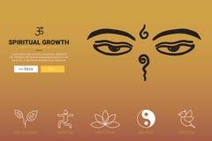 Concept spirituel de croissance illustration stock
