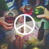 Concept spirituel pacifiste d'amour d'espoir de liberté de paix Image libre de droits