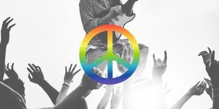 Concept spirituel pacifiste d'amour d'espoir de liberté de paix Photos stock