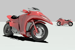 Concept Sport Bike. Concept 3d Sport Speed Bike Royalty Free Stock Photography